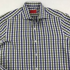 ISAIA LONG SLEEVE BUTTON DOWN SHIRT 16 - 34/35